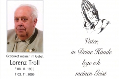 Lorenz-Troll-Sterbebildchen